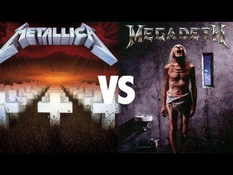 2 de las 4 grandes bandas de thrash de la historia. Cuando expulsan a Dave de Metallica, fundó Megadeth y surgió este feudo.