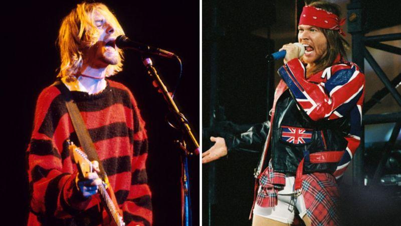La admiración que tenía Axl Rose hacia Kurt Cobain acabó en un odio y en una gran rivalidad de principio de los 90.