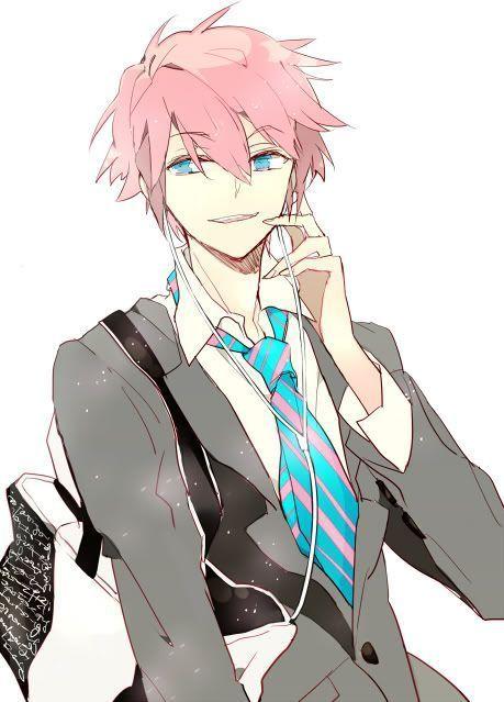 23370 - Chicos de pelo rosa en el Anime