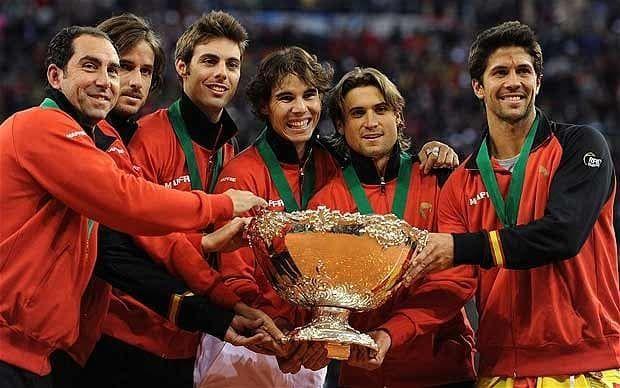 ¿En qué año alcanzó España la final de la Copa Davis por primera vez?