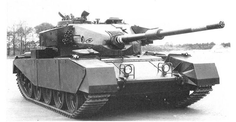 Ya en la guerra fría, las mejoras en los tanques continuaron si parar. ¿Como se clasifica el Centurion británico?