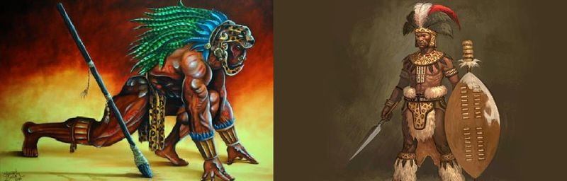 ¿ Jaguar Azteca vs Guerrero Azande ?