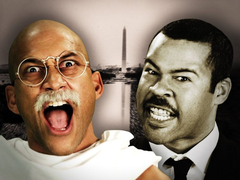 https://www.youtube.com/watch?v=-6G6CZT7h4k                        [Gandhi VS Martin Luther King]