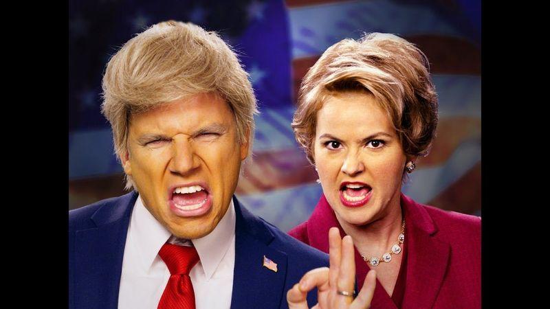 https://www.youtube.com/watch?v=Kbryz0mxuMY                            [Donald Trump VS Hillary Clinton]