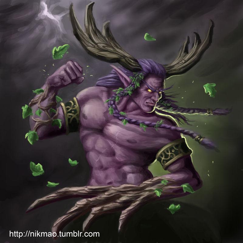 ¿Qué hace Mannoroth para derrotar a Cenarius, semidios de los elfos nocturnos?