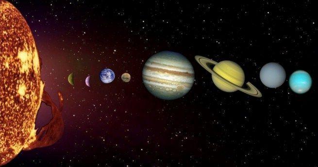 Todos los planetas del Sistema Solar giran en el sentido de las agujas del reloj