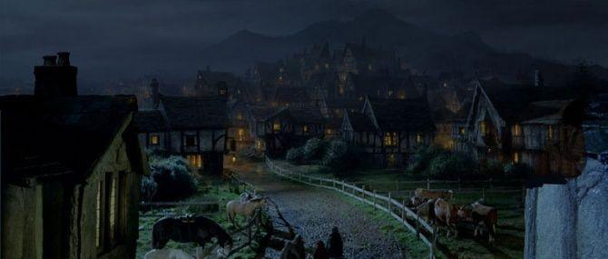Seguis vuestro camino, llegáis a la aldea de Bree y Beorn ya se separa de ti ¿Que gentes hay? ¿ Como se llama la famosa posada ?