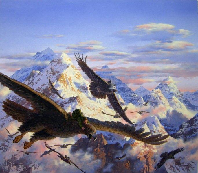 En Fornost llega un águila y dice que te quiere enseñar un sitio pero antes debes decirle el nombre de un antepasado suyo