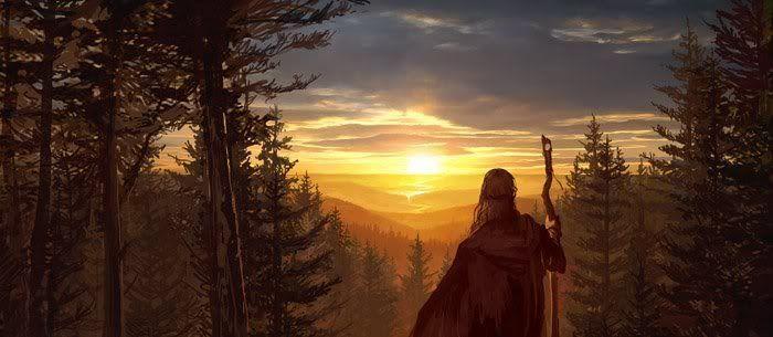 Despues de descansar sigues tu camino hacia el norte hacia una tierra llamada
