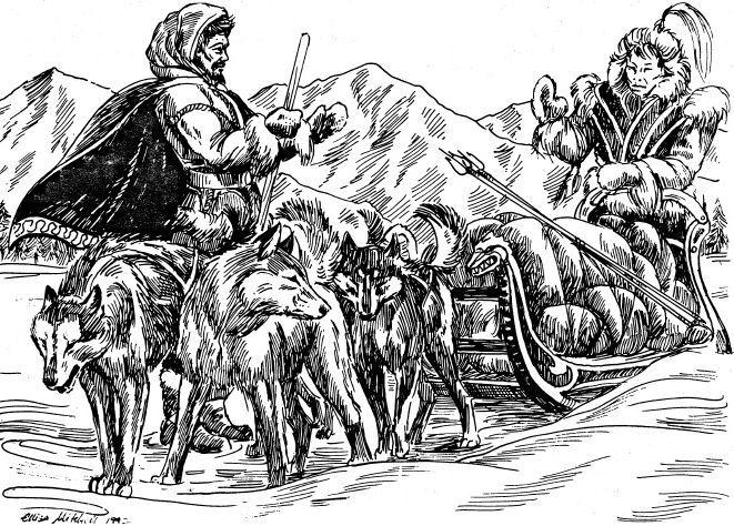 Te encuentras con los Lossoth (Hombres de las nieves) te dan alimento y ya de paso te cuentan una historia que paso alli