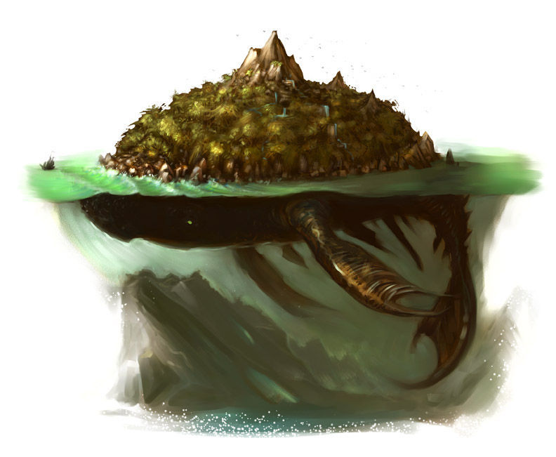 En los puertos grises los elfos te ofrecen una gran cena , hablaban de una criatura del mar descrita en los poemas ¿Quien sera?