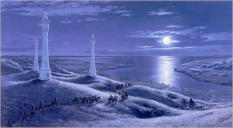 Cerca de ti , están las colinas de la Torre, decides poner rumbo hacia ¿ Porque estas colinas recibían ese nombre ?