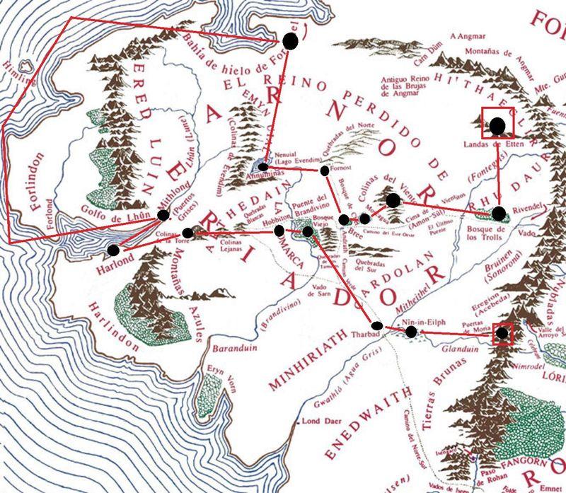 Decides pasar unos meses en Moria ya que encontraste unos familiares aquí, revisas tu mapa de recorrido ¿ Por donde has pasado?