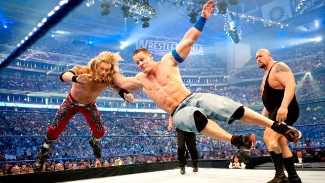 WrestleMania XXV: Edge vs Big Show vs John Cena