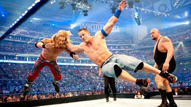 WrestleMania XXV: Edge vs Big Show vs John Cena