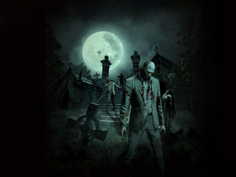 Sigues al grupo sospechoso por el cementerio.
