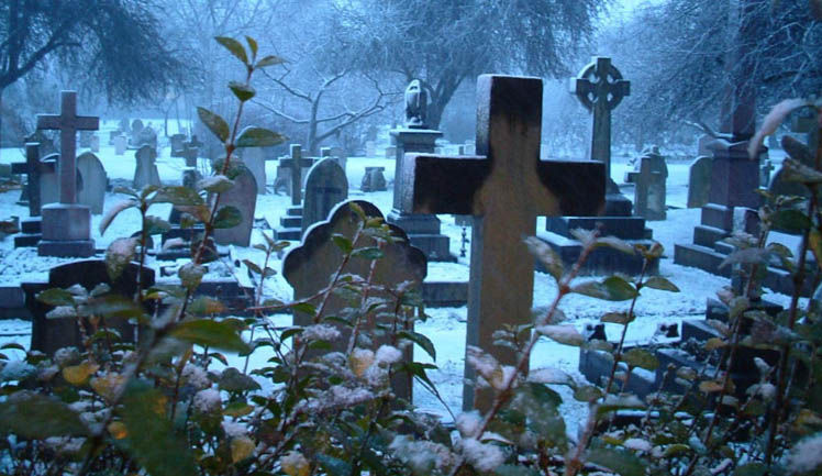 Has seguido al grupo, ves que empiezan a ponerse alrededor de una tumba y a dibujar algo en las lapidas.