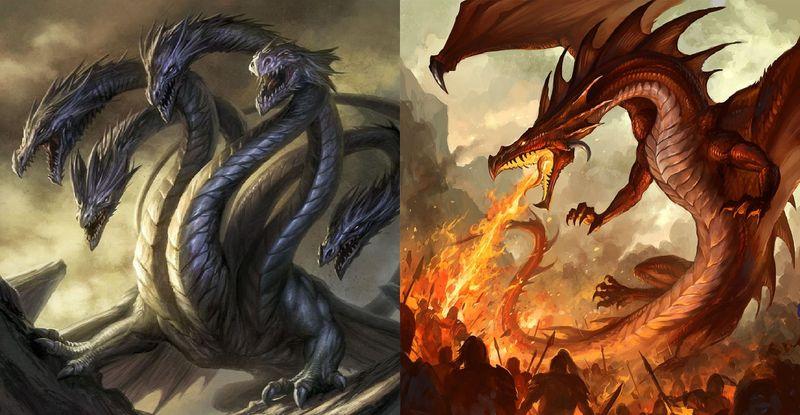 Hydra vs Dragón