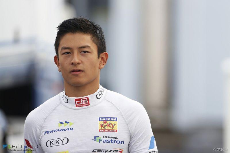 ¿Cuál fue el último GP que disputó en la temporada Rio Haryanto?