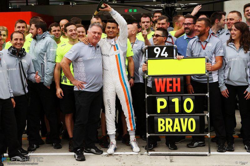 ¿En qué carrera logró milagrosamente puntuar Pascal Wehrlein?