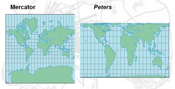¿Cuál de estos mapas es el que más se acerca a la realidad?