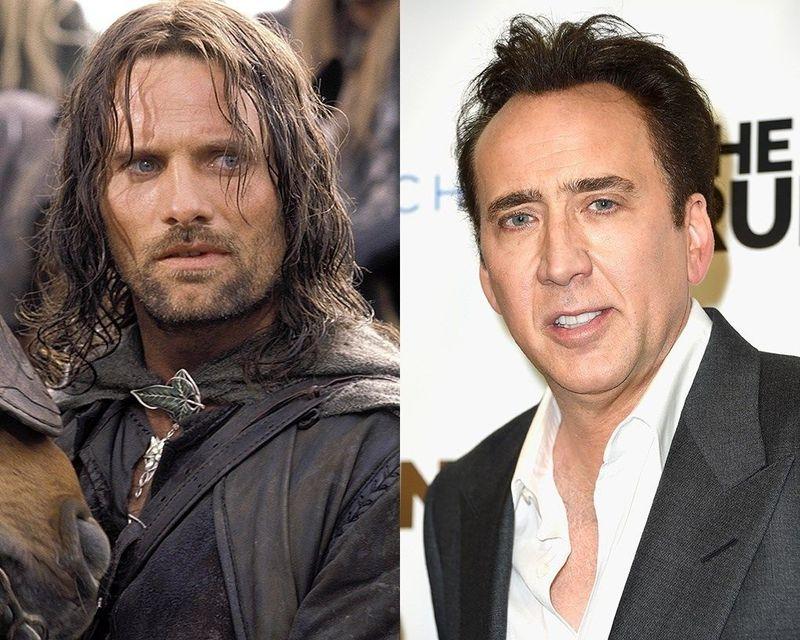 """Nicolas Cage rechazó el papel de Aragorn en la trilogía de """"El Señor De Los Anillos""""."""
