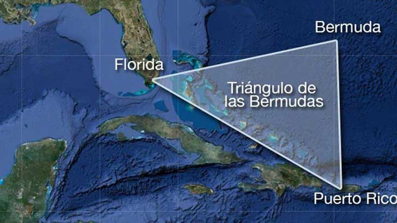 El Triangulo de las Bermudas (misteriosas desapariciones de aviones y barcos):