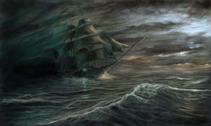 Mary Celeste (encontrado navegando a toda vela y sin tripulación). El barco fantasma: