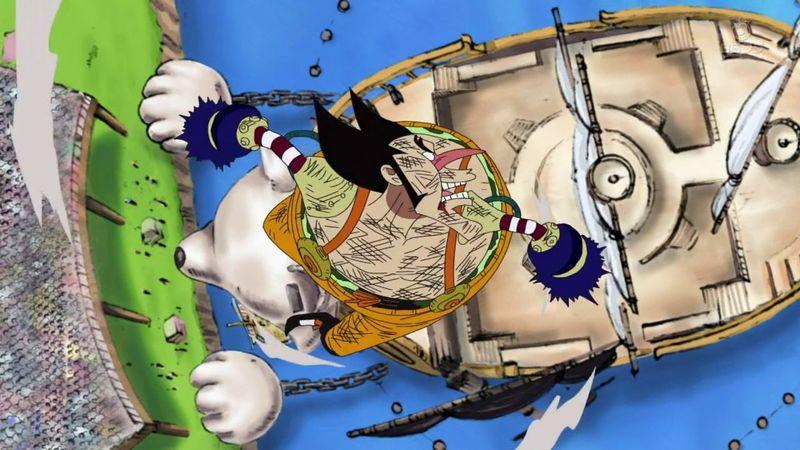 ¿Cuál fue la solución de Usopp para hacer fuerte a Luffy en el 1vs1 contra Foxy?