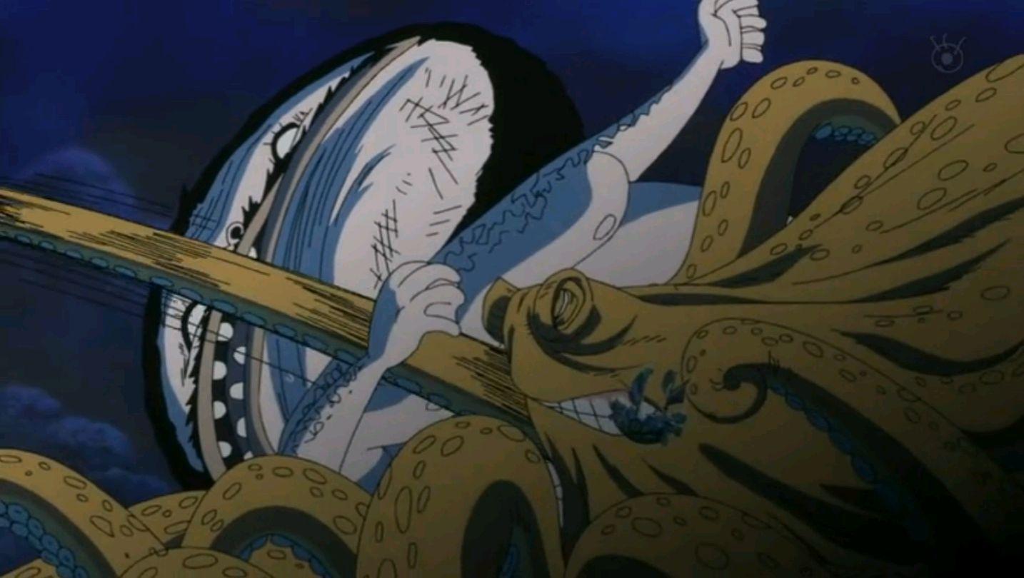 ¿Como se llama el kraken que adiestra Luffy?