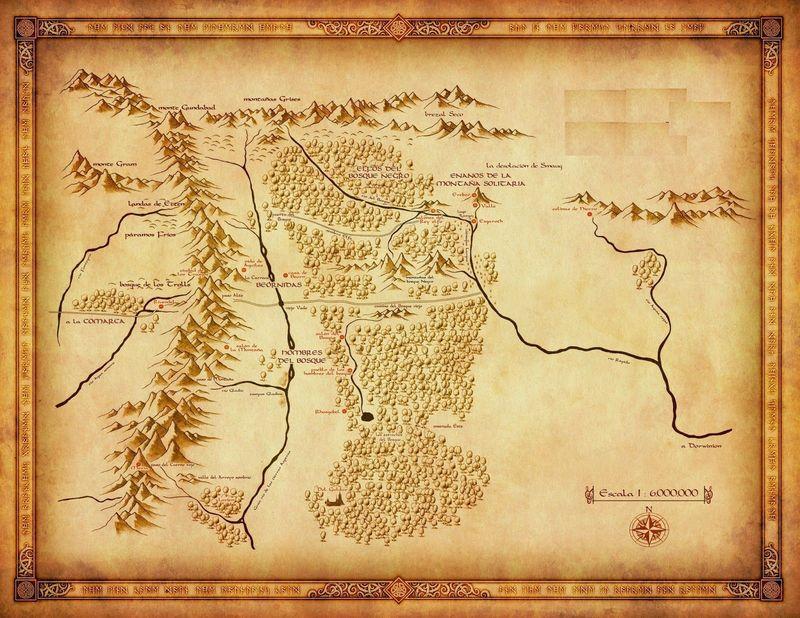 ¿Cómo llamó Tolkien al mapa que creó del Hobbit?