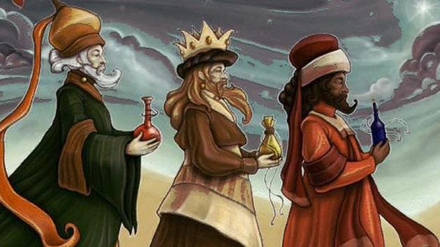 Según la cultura popular ¿de qué continente proviene cada Rey Mago?