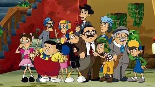 ¿En qué año comenzó a emitirse una serie de dibujos animados basada en el Chavo del 8?