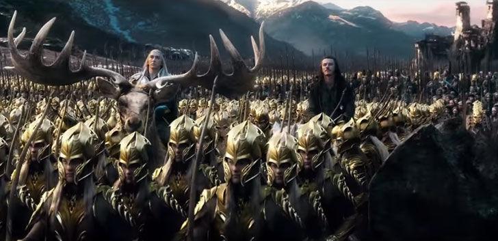 ¿Gracias a quien se derroto a los orcos en la batalla de los cinco ejércitos?
