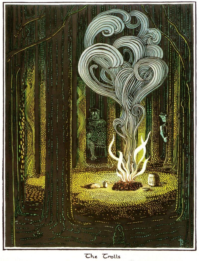 ¿Cómo capturaron los Trolls a Bilbo?