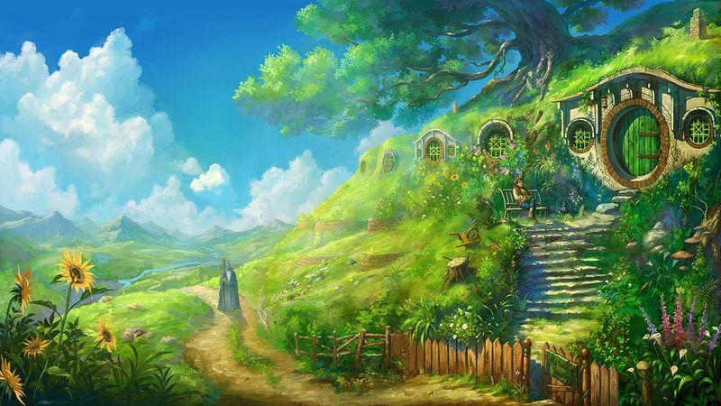 Por último ¿Quién visito a Bilbo una tarde otoñal cuando estaba escribiendo sus memorias?