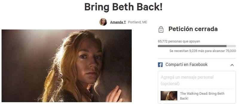 ¿Cuándo y por qué murió Beth?
