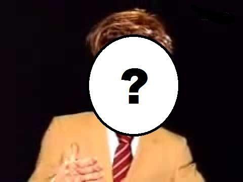 ¿Cómo era su rostro como personaje guiñol en el programa Las noticias del guiñol?