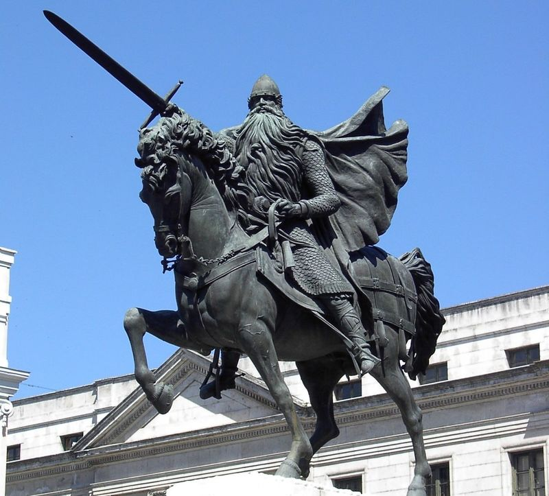 ¿En cuál de estas batallas fue Rodrigo Díaz de Vivar vencido?