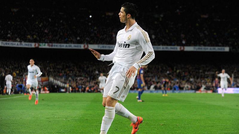 ¿Qué famosa celebración popularizó Cristiano Ronaldo tras su anotación en dicho clásico?