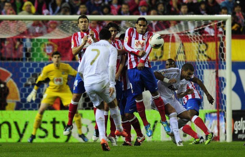 En la visita al Vicente Calderón, Cristiano marcó un