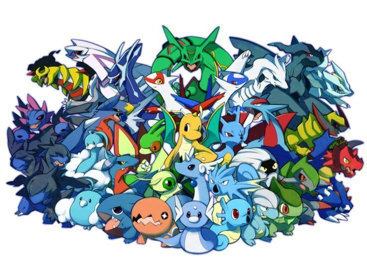Pregunta 17, Tipo dragón : Irónicamente, uno de estos pokemon no esta basado en un dragón ¿Cual?.