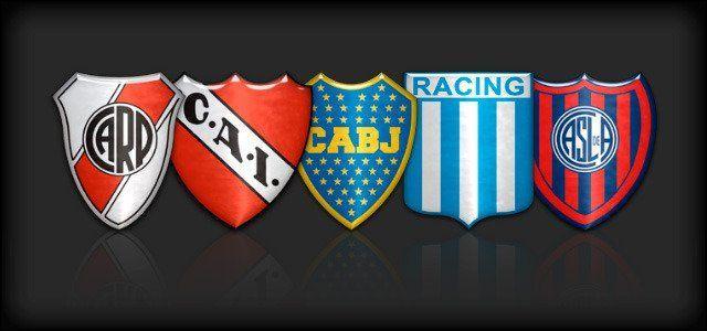Elije a uno de los 5 grandes del fútbol argentino