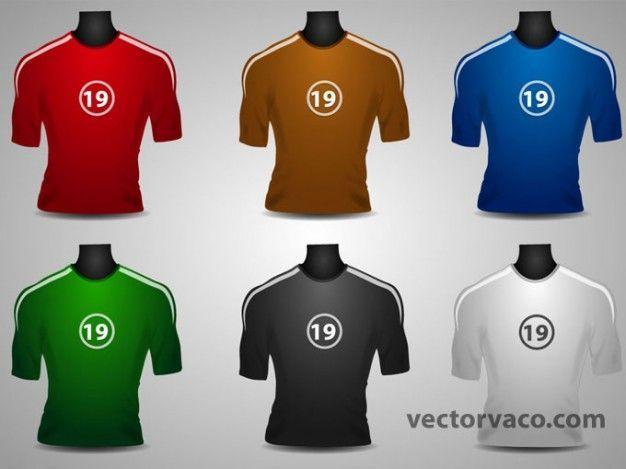 En cuanto a la equipación de los futbolistas, ¿de qué color sería la camiseta?