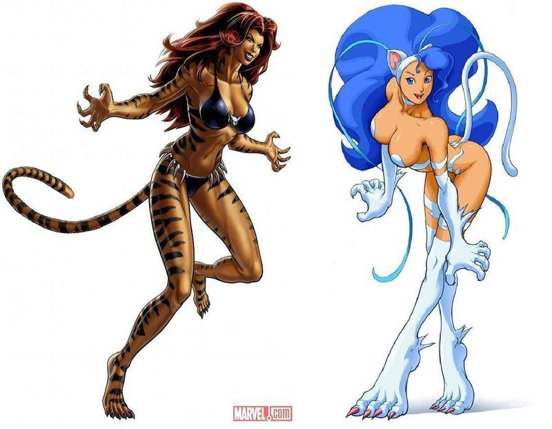 ¿Cuál de estas 2 mujeres-felino ganaría?¿Tigra o Felicia?