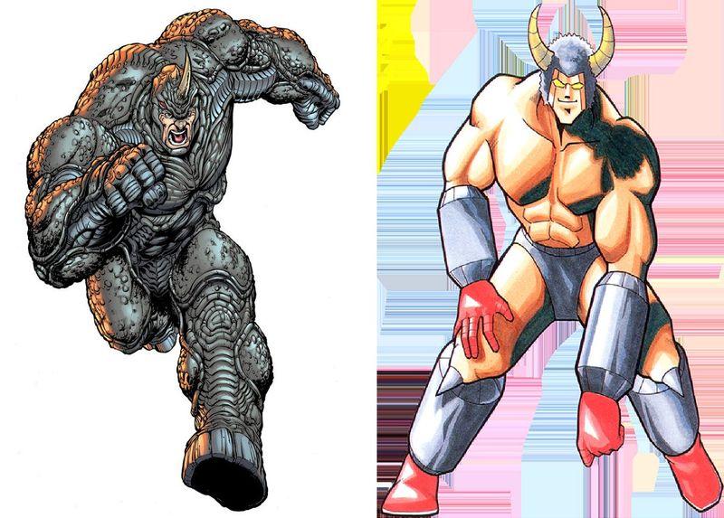 ¿Cuál de estos hombres medio bestias ganaría?¿Rhino o Buffaloman?