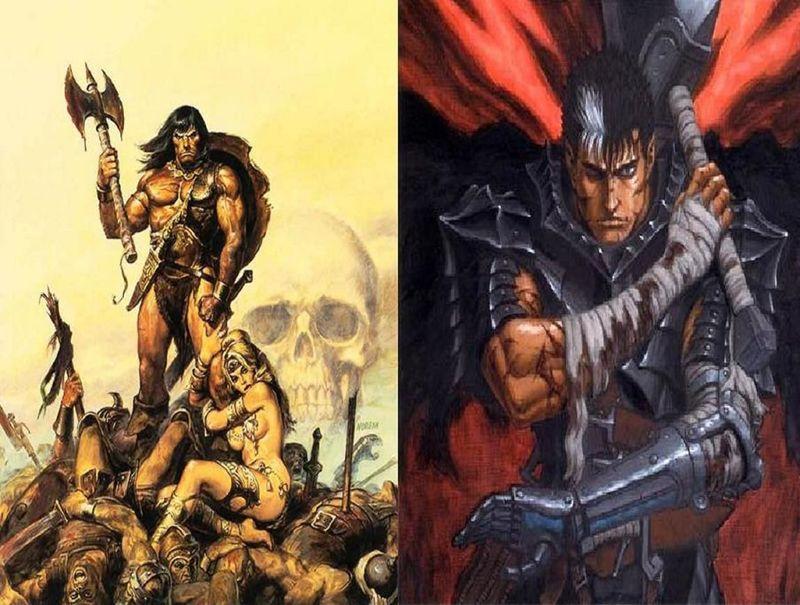 ¿Cuál de estos 2 guerreros ganaría?¿Conan o Guts sin su armadura especial?