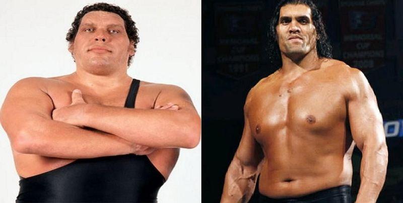 ¿Cuál de estos 2 wrestlers de gran tamaño ganaría?¿André el Gigante o el Gran Khali?