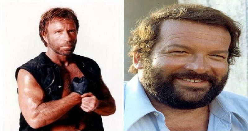 ¿Quiém ganaría?¿Chuck Norris y su patada giratoria o Bud Spencer y su puñetazo de martillo?