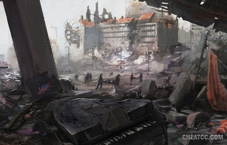 Finalmente llegan los combates la calle de al lado. Parece que los americanos van perdiendo.
